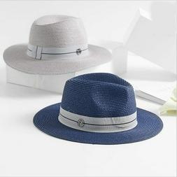 Summer Hat For Women Black Ribbon Straw Hat Fashion Lady Chu