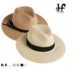 Summer Sun Hats for Women Man Beach Straw Hat for Men UV Pro