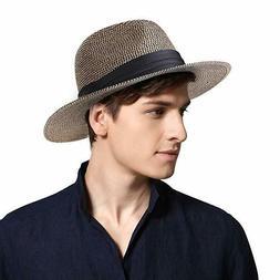 Sun Hats for Men Women Wide Brim Havana Jazz Sun Protection