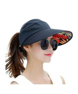 HINDAWI Sun Hats For Women Wide Brim UV Protection Summer Be