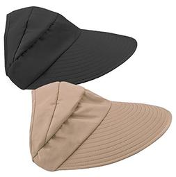 HINDAWI Sun Hats for Women Wide Brim UV Protection Sun Hat S