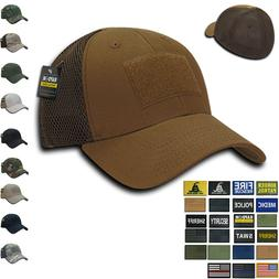 RAPDOM Tactical Air Mesh Low Crown Flex Military Caps Hats w