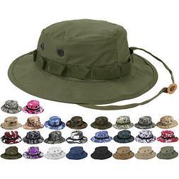 Tactical Boonie Hat Military Camo Bucket Wide Brim Sun Fishi