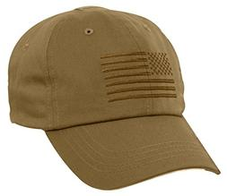 Rothco Tactical Operator Cap With US Flag, Coyote Brown