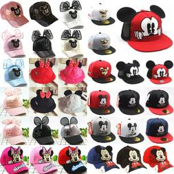 Toddler Kids Baby Girls Boys Hats Mickey Mouse Baseball Peak
