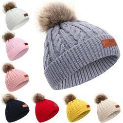 toddler kids baby winter warm beanie hat