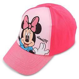 Disney Toddler Girls Minnie Mouse Cotton Baseball Cap, Age 2