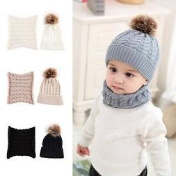 Toddler Winter Baby Kids Warm Hat Girls Boys Hooded Scarf Be