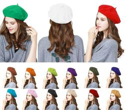 Traditional Wool French Beret Women's Men's Solid Color Plai