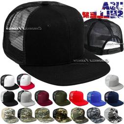 Trucker Hat Mesh Baseball Cap Snapback Adjustable Hip Hop Fl
