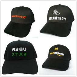 Ubereats Amazon Flex Doordash Postmates Logo Cap Embroidered