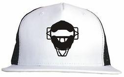 umpire catchers mask logo trucker hat cap