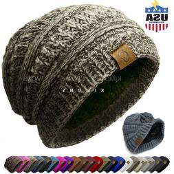 Unisex G Knit Slouchy Baggy Beanie Oversize Winter Hat Ski S