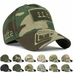 Unisex Men Hats Army Camo Baseball Cap Tactical Tough Guy Ou
