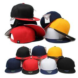 Unisex Mens Womens Plain Blank Solid Color Baseball Cap Snap
