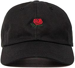 FGSS Unisex Rose Embroidered Adjustable Strapback Dad Hat Ba