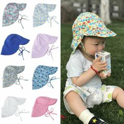 Unisex Toddler Baby Sun Protection Brim Summer Hats Swim Cap