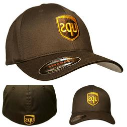 UPS FLEXFIT Style 6277 Embroidered on Front & Back of the Ba