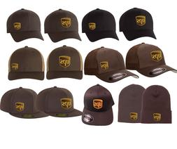 UPS Hats Beanies Flat Bill, Trucker FlexFit 3D 210 Small Mei