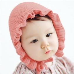 US Newborn Baby Boys Girls Winter Warm Handmade Wool Ear Kni