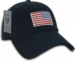 Navy USA American Flag Baseball Cap Graphic Relaxed Patrioti