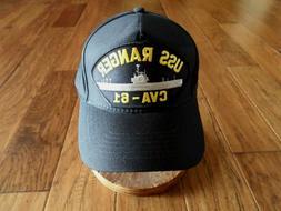 USS RANGER CVA-61 NAVY SHIP HAT U.S MILITARY OFFICIAL BALL C