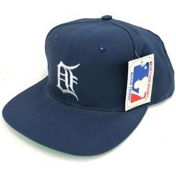 Vintage Detroit Tigers Unbranded Snapback Hat Navy Blue Whit