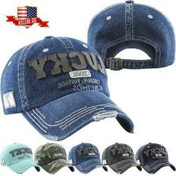 Vintage Distressed Hat Baseball Cap - Lucky Denim - KBETHOS