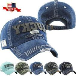 Vintage Distressed Hat Baseball Cap - Lucky Denim - KBETHOS