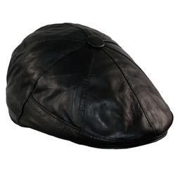 Vintage Newsboy Hats for Men Baker boy Leather Hat 8 Panel C