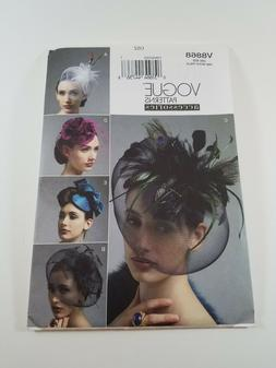 Vogue 8868 Sewing Pattern Accessories Hats Crinoline Fancy W