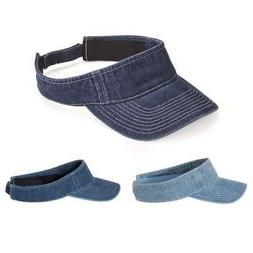 Mega Cap Washed Denim Visor 4029