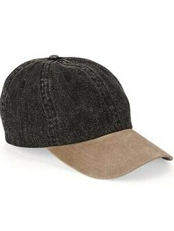 Mega Cap - Washed Denim With Suede Bill Cap - 7611