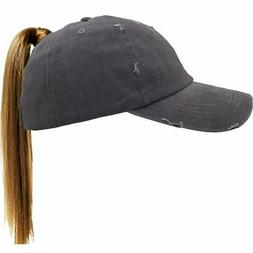 Washed Ponytail Hats Pony Tail Caps Baseball for Women