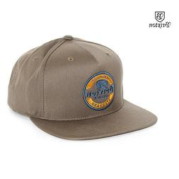 Brixton Wheeler Snapback Baseball Cap Hat Brown OS NWT NEW S
