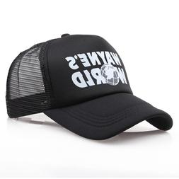 Wholesale Black Waynes World Baseball Caps Unisex Hip Hop <f
