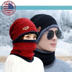 Winter Beanie Hat Fleece Warm Balaclava Snow Ski Snood Scarf