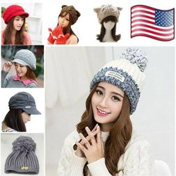 Winter Hat For Girls Cap New Soft Women Warm Thick Wool Bean