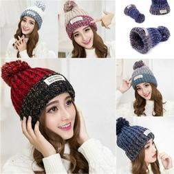 Winter Hat For Girls Cap Soft Women Warm Thick Wool Beanies