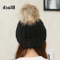 Winter Hats For Women Pompom Fashion Knit Winter Ski Hat Cap
