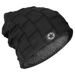 Bodvera Unisex Winter Knit Wool Warm Hat Soft Slouchy Beanie