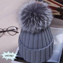 Winter NEW Women Pom Pom Beanies Warm <font><b>Knitted</b></