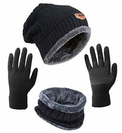HINDAWI Winter Slouchy Beanie Gloves for Women Knit Hats Sku