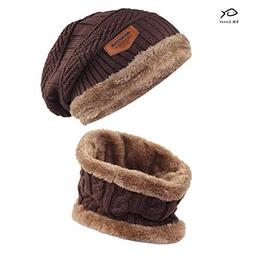 YR.Lover Kids Winter Warm Hat and Scarf Knitted Hat with Sof