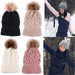 Women Fashion Mom And Baby Knitting Keep Warm Hat Winter War