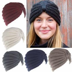 Women Girls Fashion Keep Warm Manual Wool Knitted Hats Earmu