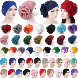 Women Indian Turban Hat Head Wrap Stretchable Chemo Cancer P