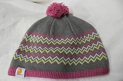 CARHARTT FOR WOMEN POM POM ZIG ZAG SOCK WATCH CAP HAT BEANIE