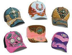 Women's Caps Hats Heartland Country Faux Leather Applique Rh