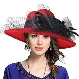 VECRY Women's Fascinator Wool Felt Hat Cocktail Party Weddin